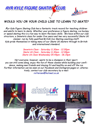 WOULD YOUR CHILD LIKE TO LEARN TO SKATE?